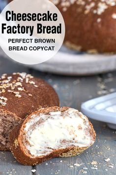 A perfect copycat recipe for The Cheesecake Factory brown bread. This is the mos. - A perfect copycat recipe for The Cheesecake Factory brown bread. This is the most popular recipe on - The Cheesecake Factory, Bread Machine Recipes, Bread Recipes, Baking Recipes, Chicken Recipes, Brown Bread Recipe, Wheat Bread Recipe, Honey Wheat Bread, Bon Dessert