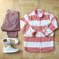 Outfitgrid - Wood Wood pants / Norse Projects shirt / COS tee / adidas shoes.