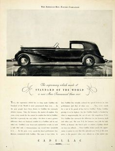 1934 Ad Cadillac Fleetwood V16 Town Cabriolet 4 Door Luxury Automobile Supremacy #vintage #automobile #cadillac
