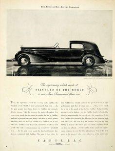 1934 Ad Cadillac Fleetwood V16 Town Cabriolet 4 Door Luxury Automobile Supremacy #vintage #automobile #cadillac