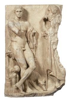 869 Marble grave stele of a youth, found in the bed of the Ilissos river in Athens. Grave stele, made of Pentelic marble. Greek History, Roman History, Ancient History, Art History, Ancient Greek Sculpture, Ancient Greek Art, Ancient Greece, Roman Sculpture, Sculpture Art