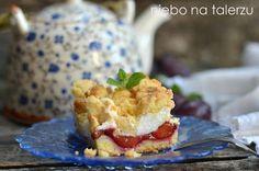Łatwe ciasto ze śliwkami i pianką, ciasto pleśniak, kruche, szybkie do przygotowania, dobry i prosty przepis nawet dla niezbyt doświadczonych kucharzy.