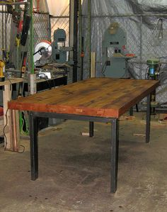 reclaimed wood table as a desk for the office