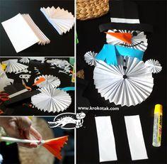 Three easy winter ideas from folded paper   krokotak