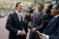Actor Benedict Cumberbatch speaks to the media after receiving the CBE (Commander of the Order of the British Empire) from Queen Elizabeth II for services to the performing arts and to charity during an Investiture Ceremony at Buckingham Palace on November 10, 2015 in London, England.  (Nov. 9, 2015 - Source: WPA Pool/Getty Images Europe)