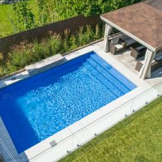 Backyard Plan, Small Backyard Pools, Swimming Pools Backyard, Pool Landscaping, Small Pools, Outdoor Pool, Vinyl Pools Inground, Inground Pool Designs, Backyard Pool Designs
