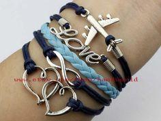 Silvery Charm Bracelet Heart To Heart Bracelet by handworld, $5.59
