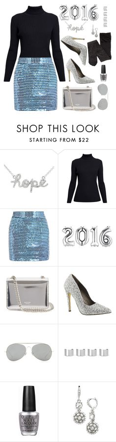 """""""Happy New Year! #hope"""" by lsamsam ❤ liked on Polyvore featuring Sydney Evan, Rumour London, Ashish, Rochas, Michael Antonio, Acne Studios, Maison Margiela, OPI, Givenchy and 2016"""
