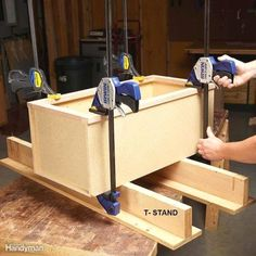 Woodworking Techniques Pro woodworkers share their best clamping tips, tricks and recommendations for perfect glued joints every time. - Pro woodworkers share their best clamping tips, tricks and recommendations for perfect glued joints every time. Essential Woodworking Tools, Antique Woodworking Tools, Learn Woodworking, Popular Woodworking, Woodworking Techniques, Woodworking Furniture, Woodworking Crafts, Woodworking Plans, Woodworking Videos