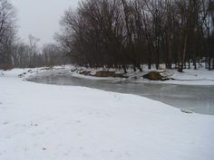 I took this photo of the Root River in winter.