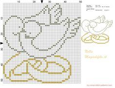 Doves with wedding rings pattern