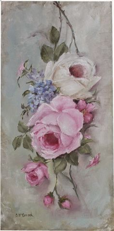 "Original Painting - ""Study of Old Rose Painting"" - Postage is included Australia Wide Back Painting, China Painting, Painting & Drawing, Vintage Rosen, Vintage Art, Art Floral, Deco Rose, Painted Books, Wow Art"