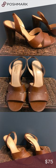 """TALBOTS - Brand New Heels! Gorgeous! TALBOTS - Brand New Heels! Gorgeous!! Size 8B, color is a light brown! Heel height is 4""""!! Super classy and comfortable! Talbots Shoes Heels"""