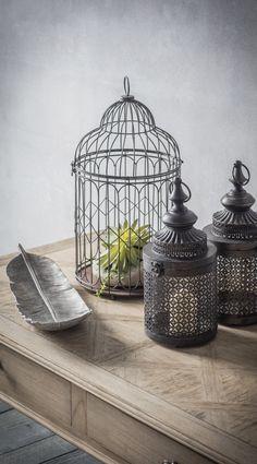 Quirky ornamental bird cage