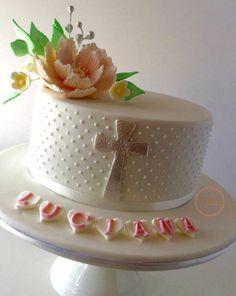 Ideas para decorar tortas de bautizo 5                                                                                                                                                                                 Más