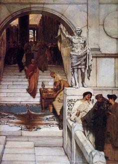 Lawrence Alma-Tadema - An Audience at Agrippa's - Lourens Alma Tadema