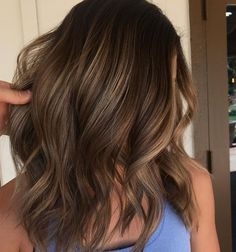 Perfect brunette golden balayage hair