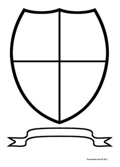 Use this coat of arms worksheet as an artistic prompt. Clients draw, paint, or…