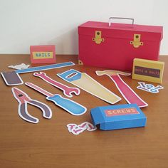 Printable Carpenter Kit - PDF Paper Craft