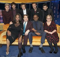 The boys, Oprah, Sara Millican, Forest Whitaker and Jonathan Ross