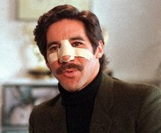 """Speaking of skinheads. not sure how """"cool"""" but here's Geraldo Rivera with a broken nose after the famous Skinhead brawl on his 1988 TV show. New York Entertainment, Broken Nose, Media Bias, Those Were The Days, Skinhead, Birth Certificate, Black People, New Day, Cool Kids"""