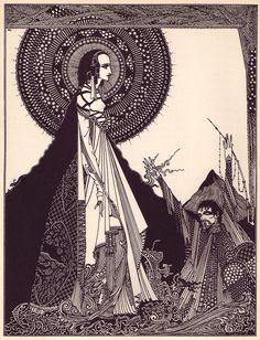 As series of illustrations by Irish illustrator Harry Clarke to accompany Poe's tales of terror!