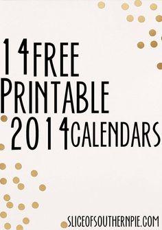 Printable Calendars!
