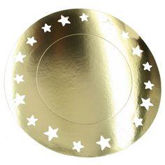 Metallic gouden placemats 33 cm. Deze metallic gouden kartonnen placemats hebben…