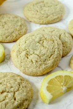 These gluten-free Lemon cookies are filled with a light and sweet citrus flavor, with a soft texture, making them the perfect gluten-free Spring treat! Gluten Free Cookie Recipes, Gluten Free Sweets, Gluten Free Cookies, Free Recipes, Healthy Recipes, Flourless Desserts, Vegan Desserts, Gluten Free Flatbread, Pumpkin Oatmeal Cookies