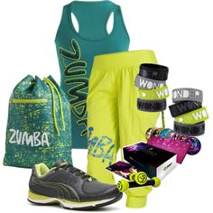 """Official Zumba Outfit"" by dezzerrea on Polyvore"