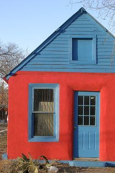 red and blue house by h. wren, via Flickr