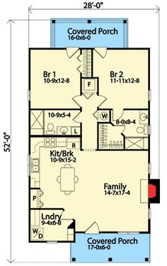 """Use floor plan, change to """"shed roof"""" design Cottage House Plans, Cottage Homes, Grandma's House, Cottage Living, Granny Pod, Cabins And Cottages, Small Cabins, Small Cottages, Log Cabins"""