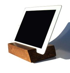 "Wood iPad Tablet Stand \ 7"" x 5 1/2"" \ White Oak \ Live Edge \ Wisconsin  SOLD"