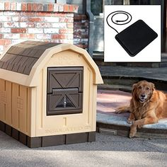 Dog Palace Dog House with Floor Heater * Click image for more details.
