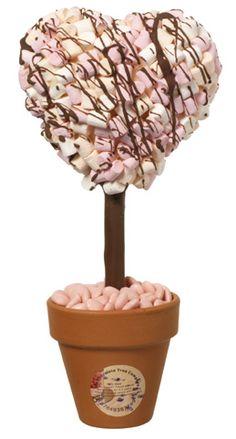 Vintage heart marshmallow tree