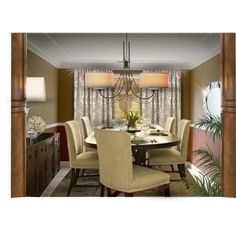 Dining Room Traditional by tanyaf1 on Polyvore