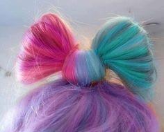 ❤ RAINBOW BOW HAIR