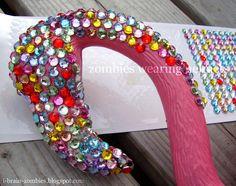 BEJEWELED plastic flamingo yard art http://www.zombieswearinghelmets.com/2011/09/like-rhinestone-cowboy.html