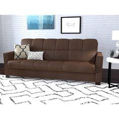 Mainstays Baja Microfiber Futon Sofa Sleeper Bed, Multiple Colors - Walmart.com