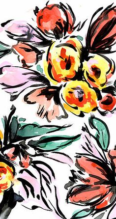 Hand-Painted Florals from Natalia Gemma Design. Natalia creates and sells original patterns for fashion, home and paper products.