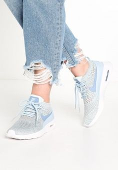 new concept f61da aba5d Nike Air Max Thea Ultra Flyknit Trainers Low Of Light Armory Blue Work Blue