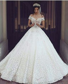 Cheap gown protector, Buy Quality dress bridal gown directly from China gown disposable Suppliers: 2017 Vintage Lace Wedding Dresses Off the Shoulder Short Sleeves Applique Wedding Bridal Gowns Robe De Mariage Custom Made Cheap Bridal Dresses, Long Wedding Dresses, Princess Wedding Dresses, Bridal Gowns, Wedding Gowns, Tulle Wedding, Elegant Wedding, Trendy Wedding, Beautiful Wedding Dress