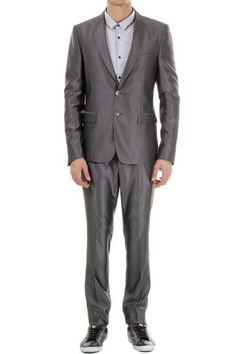 Cavalli wool blend iridescent suit (art. S03FT0013 N35858 093)