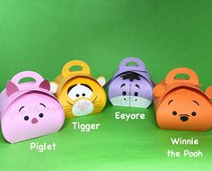 Tsum Tsum Winnie and friends party favor boxes Small size