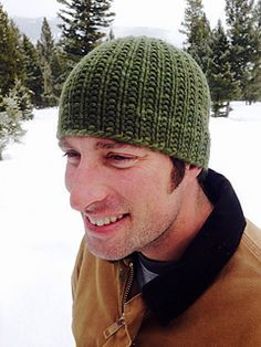 Man Hat by Haven Leavitt  Use any chunky yarn to make this ribbed hat, which time has proven is a hit with all genders. Malabrigo Chunky or Dream in Color Groovy have great stitch definition in this pattern or bulky alpaca yarn is soft enough for even the most discerning of scalps.