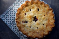 Blueberry Peach Pie Overcomes All Kinds of Crumble Bubble Juice, Quick Cooking Tapioca, Salted Or Unsalted Butter, Pie Kitchen, Ripe Peach, Fruit Pie, How To Double A Recipe, Pie Plate, Deep Dish