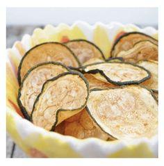 Chips salados de calabacines