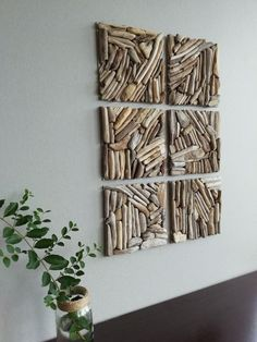 Set Square wall decor Wood wall tiles Driftwood Square tiles wall decoration Geometric wall Wooden Square Rustic Decorative wall A set of handmade tiles that can be assembled in hundreds of different compositions to create your own Wood Wall Tiles, Wooden Wall Decor, Wooden Walls, Wooden Art, Wood Stick Decor, Wood Panel Walls, Panel Wall Art, Wood Paneling, Canvas Wall Art
