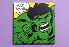 Incredible Hulk Pop Art Painting. $35.00, via Etsy.