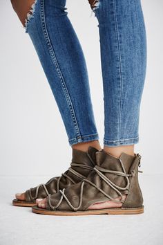 Lavery Boot Sandal | Bohemian leather boot sandal with a cool girl edge. Features a strappy design on the top of the foot and a back zipper closure detail for an easy on-off.